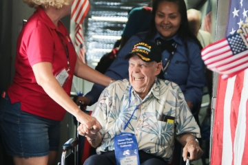 Veteran Welcome at Airport