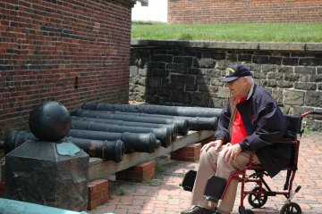 Veteran at Fort McHenry