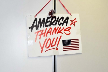 America Thanks You sign