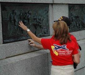 Veteran and Guardian at WWII Memorial
