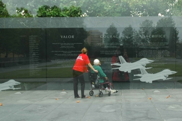 Veteran and Guardian at Air Force Memorial