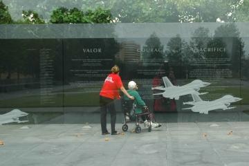 Veteran and Guardian at Air Force Memorial