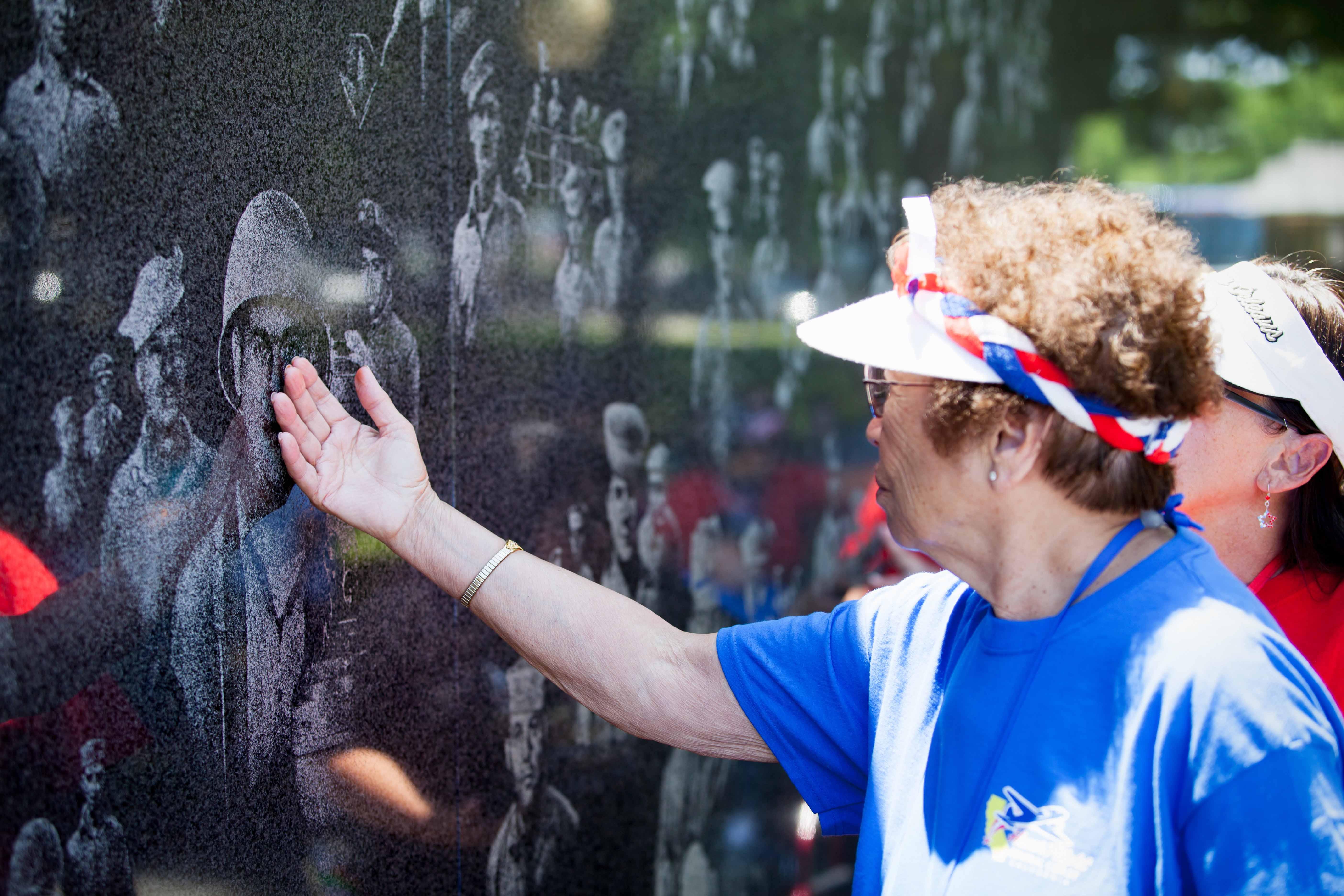 Veteran at Korea War Memorial