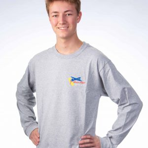 Men's long sleeve - Gray Front