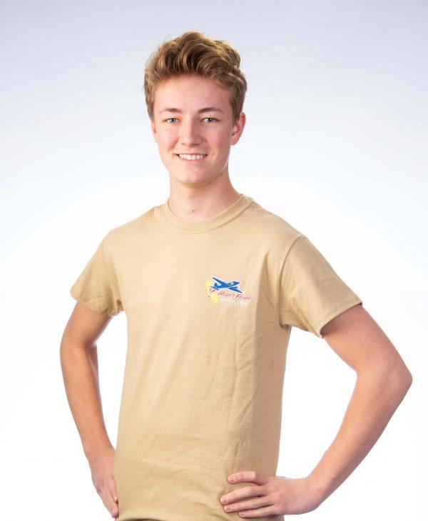 Men's short sleeve - Tan Front